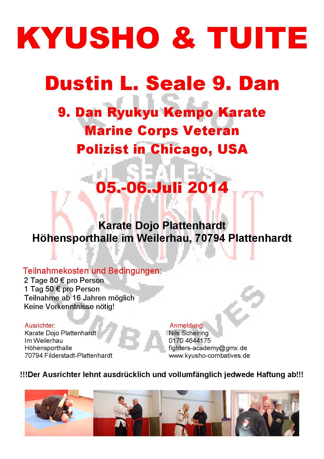 Kyusho Combatives Seminar in Germany  @ Karate Dojo Plattenhardt