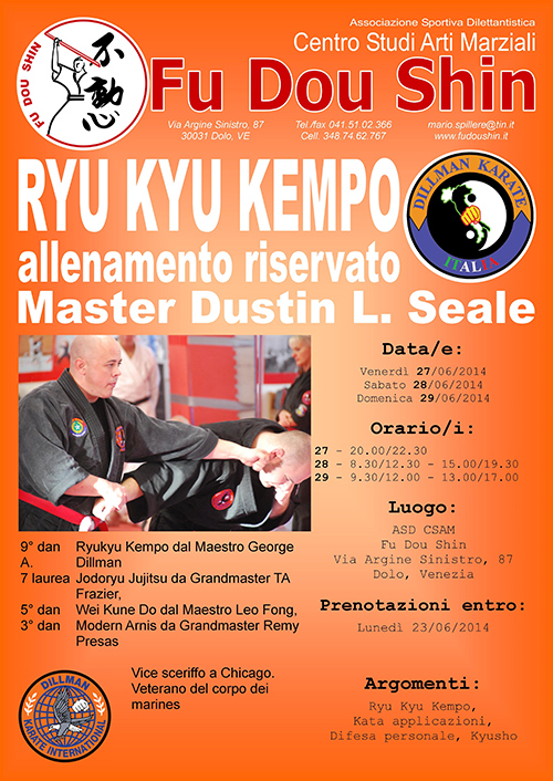Kyusho Combatives Seminar in Italy @ Venice | Veneto | Italy
