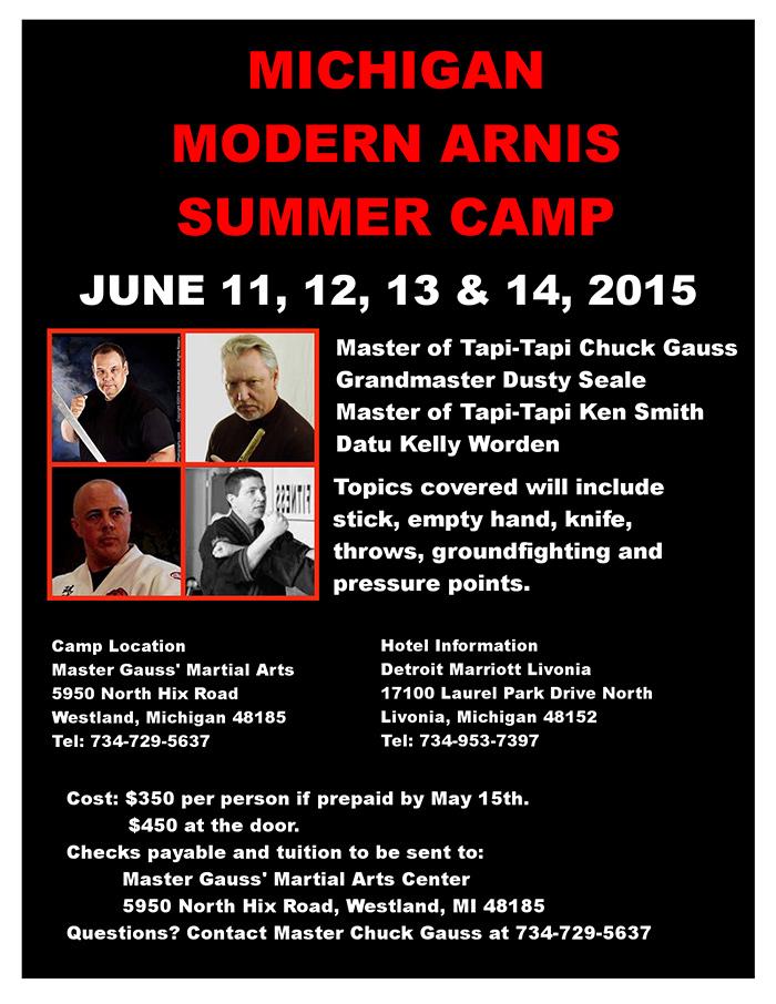 Michigan Modern Arnis Summer Camp @ Master Guass' Marital Arts | Westland | Michigan | United States