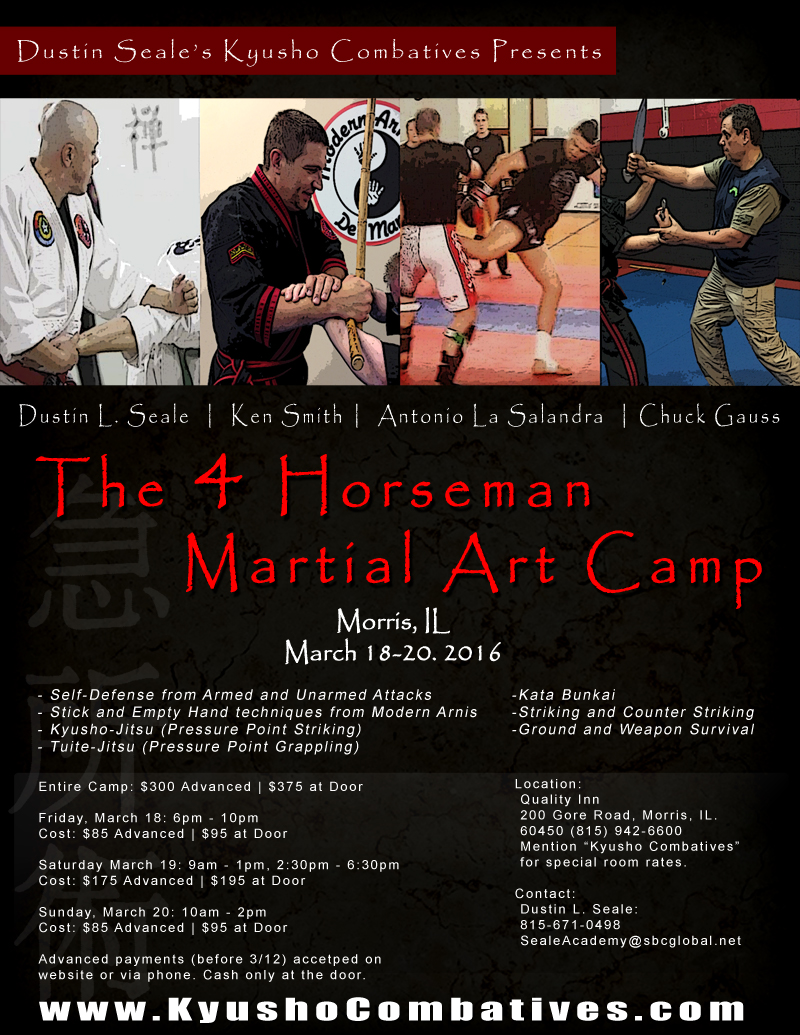 The 4 Horseman Martial Art Camp @  Quality Inn | Morris | Illinois | United States