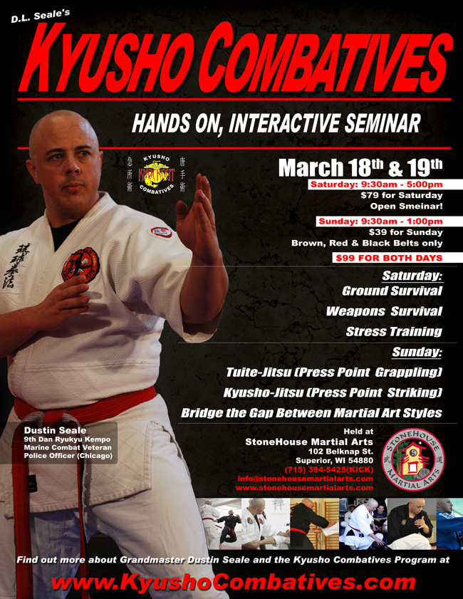 Kyusho Combatives Seminar in Superior, WI @ StoneHouse Martial Arts | Superior | Wisconsin | United States